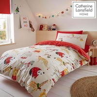 Catherine Lansfield Jungle Bells Christmas King Size Bedding