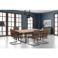Clemence Oak Dining Table 160cm