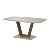 Felicity 160cm Latte And Oak Dining Table