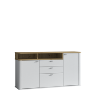 Kyron 170cm White And Artisan Oak Effect Sideboard