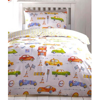 Cars and Transport Single Bedding