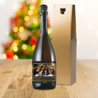 Christmas Tree Photo Upload Bottle Of Prosecco