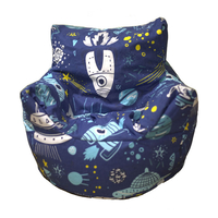 Space Rocket Bean Chair - Blue