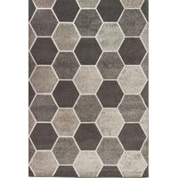 Visiona Aspect Hive Rug, Grey, 80 x 150 Cm