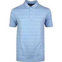 TravisMathew Golf Shirt - Heater Stripe Polo - Htr Allure SS20