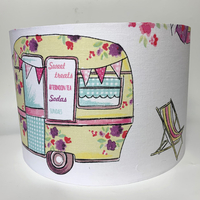 Glamping, Camper Van Large Fabric Light Shade