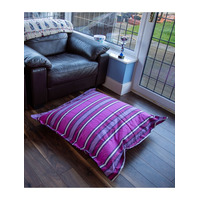 Purple Stripe, Extra Large Floor Bean Cushion