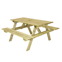 Charles Bentley Wooden Picnic Table