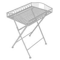 Charles Bentley Wrought Iron Side Table Grey