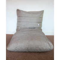 Large Ridged Bean Relaxer - Grey