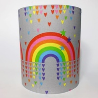 Rainbows and Hearts Medium Fabric Light Shade