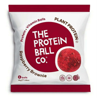 The Protein Ball Company Raspberry Brownie Balls 45g - Pack of 10
