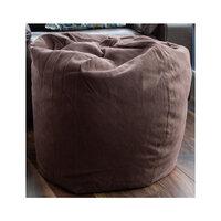 Brown, Large Bean Bag - Herringbone
