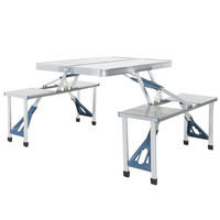Charles Bentley Odyssey 4 Seater Folding Dining Table Set