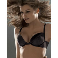 Wonderbra Satin Plunge bra Black