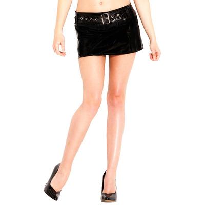 PVC Belted Hipster Skirt
