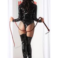 Leather Red  Black Bull Whip
