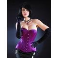 Satin Sweetheart Corset - Purple