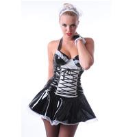 PVC Maid To Serve Dress  Cap
