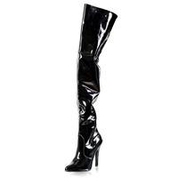 5 Inch Thigh High Suzie Boots-Black