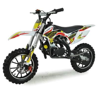 FunBikes MXR 50cc 61cm Yellow Kids Mini Dirt Bike