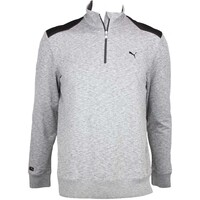 Puma LUX Knit Popover Golf Jumper Grey Heather AW15