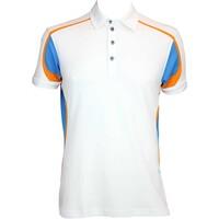 Galvin Green Milton Golf Shirt White-Summer Sky AW15