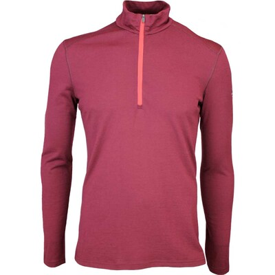 Icebreaker Oasis Half Zip Merino Golf Base Layer Redwood AW15