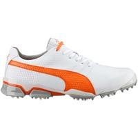 Puma TitanTour Ignite Golf Shoes White-Orange AW16