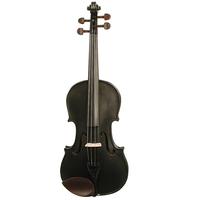 Harlequin Black 3/4 Size Violin Outfit