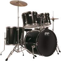 Performance Percussion Black Full Size Rock Drum Kit