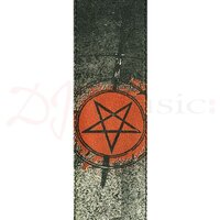 Planet Waves Straps - Stoned Leather Strap Colour Pentagram