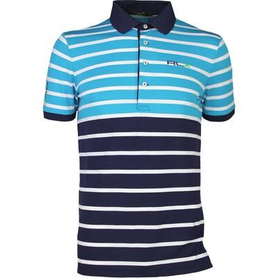 RLX Golf Shirt Stripe Tech Pique Sea Cruise AW16