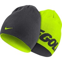Nike Golf Beanie - Reversible Knit - Anthracite - Volt AW16