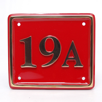 Rectangle Brass House Number 17.5 x 15cm