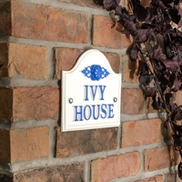 Aluminium Painted Bridge House Sign 19 x 17cm - cream