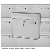 Multiple Ouse White Mailboxes for Communal Areas