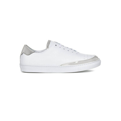 Spike Low Top Trainers - Silver