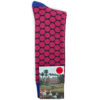 Ted Baker Golf Socks Two Tone Spot Pink SS17