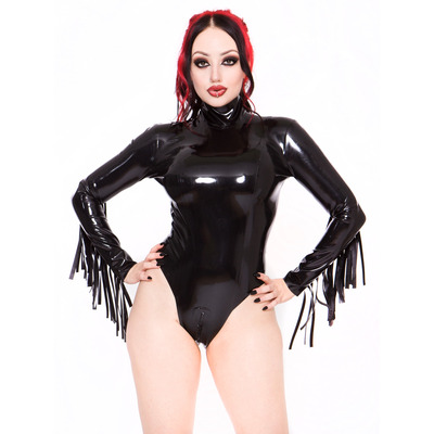 Black Latex Long-Sleeved Body S/L