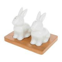 Joe Davies White Bamboo Bunny Cruet Set