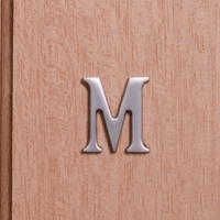 Self Adhesive 40mm Aluminium Letter M