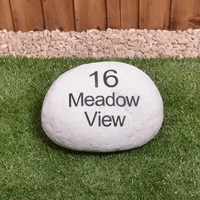 Personalised house sign boulder - large