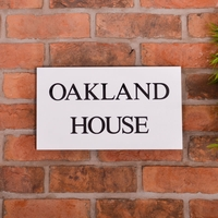 Granite House Sign 35.5 x 20cm 2 Line with sandblasted and painted