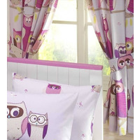 Hoot Owl Curtains 72s - Lined
