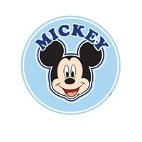 Mickey Over the Bed Wall Sticker - 76 cm diameter