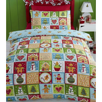 Jolly Gingerbread King Size Bedding