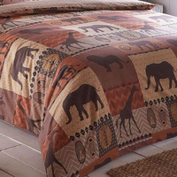 Kruger Safari Park Terracotta, Single Duvet Cover Set