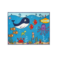 Sealife, Kids Large Bedroom Rug 80 x 120 cm