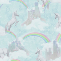 I Believe in Unicorns Wallpaper - Teal
